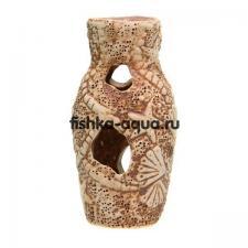 Керамическая декорация для аквариума - Амфора звезда